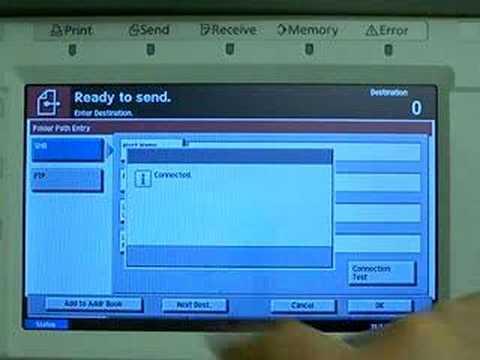Utax CD1230 scan to server