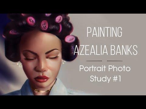 Portrait Photo Study Painting #1 | Azealia Banks