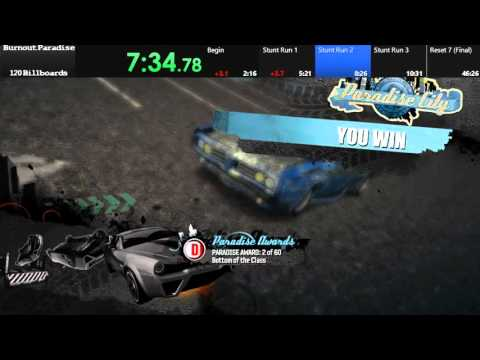 Burnout Paradise 120 Billboard Speedrun 48:39 (with commentary)