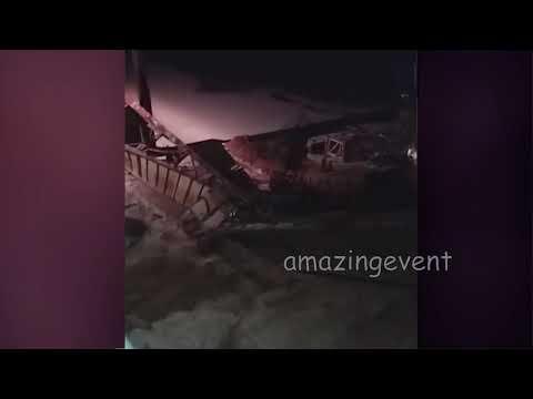 В Нефтеюганском районе ХМАО обрушился мост
