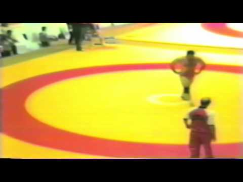 1987 Senior World Championships: 130 kg Bruce Baumgartner (USA) vs. Aslan Chadarzev (USSR)