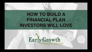 How to Build a Financial Plan That Investors Will Love