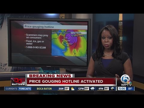 Price gouging hotline activated due to Hurricane Matthew