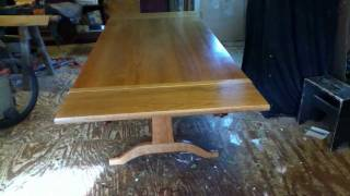 Trestle Tables W/ Leaves Made By Timothy Clark, Cabinetmaker/chairwright