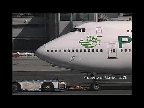 PIA Pakistan International Airlines  747-200s and 747-300s across the Globe
