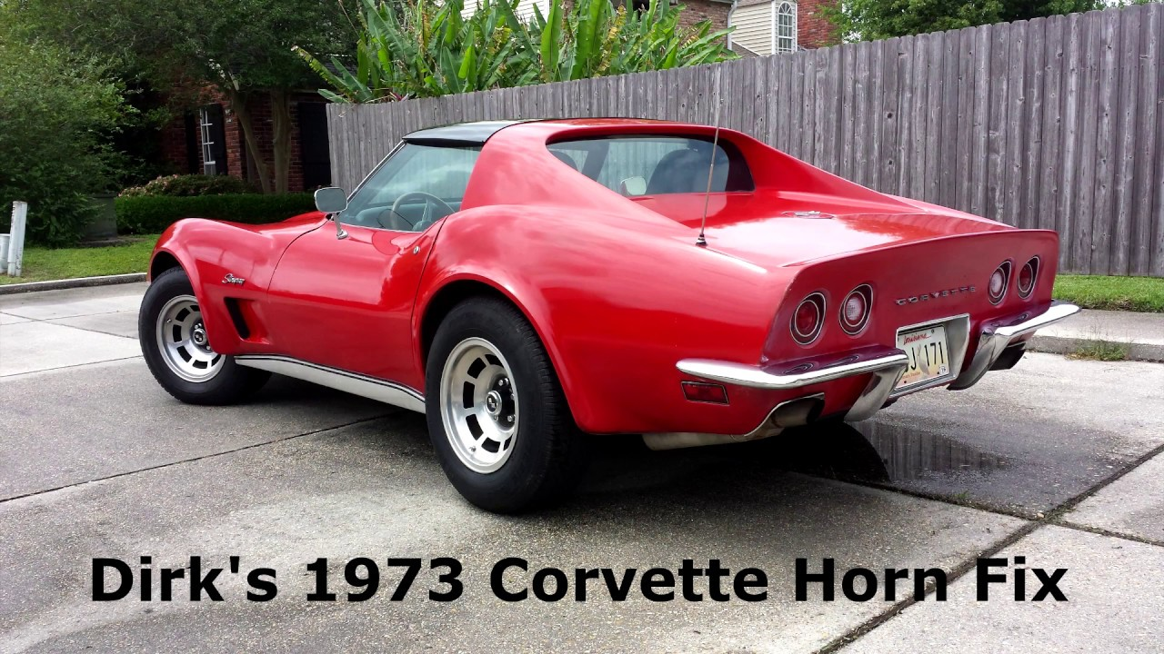 Dirk's Germany Bound 1973 Corvette Stingray Video 3: Horn Issues