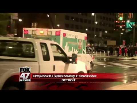 Police: Woman shot at Detroit fireworks display
