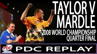 PDC Replay - Phil Taylor v Wayne Mardle World Championship Quarter Final 2008