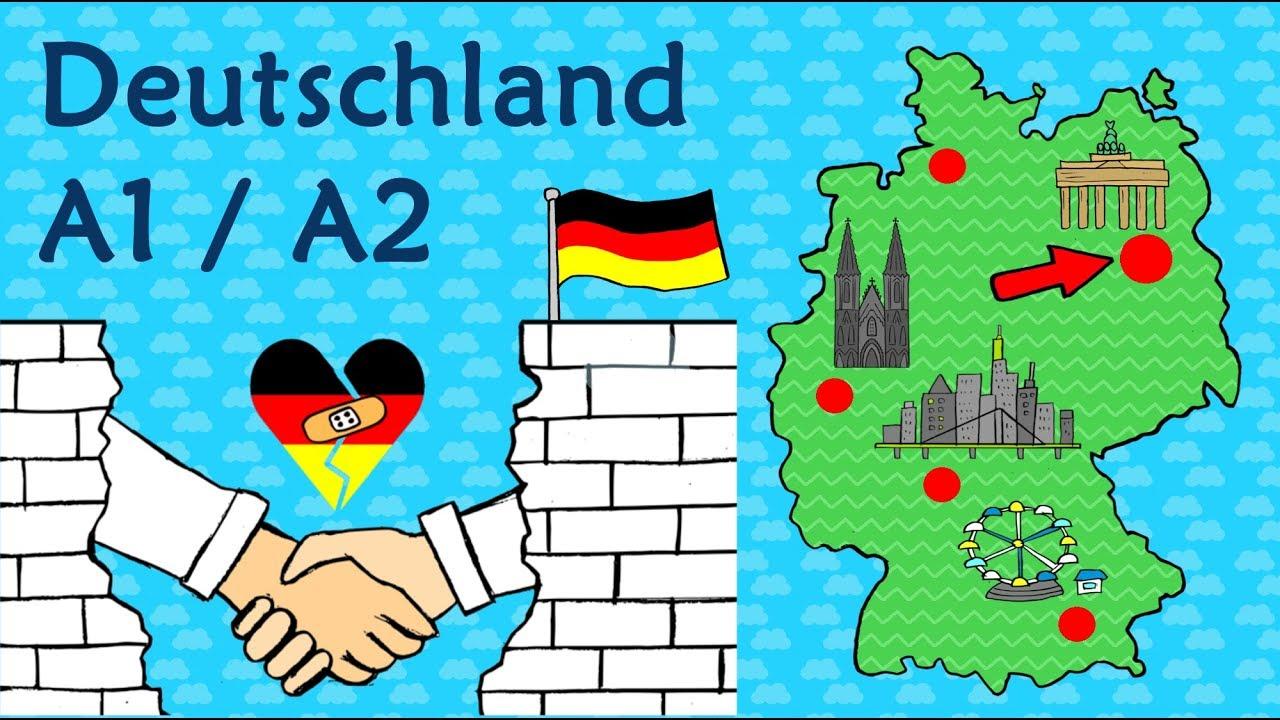 Deutsch A1 A2 Deutschland Geographie Kultur Learn German