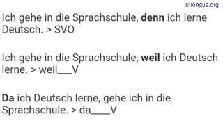 A1, A2, B1, B2, C1, Übungen, deshalb, weil, denn, da, deswegen, daher, darum, Deutsch lernen, Gramma