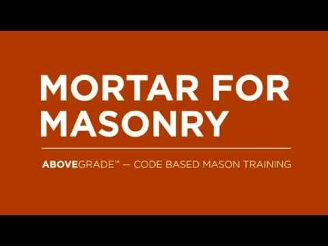 Mortar For Masonry – Code Based Mason Training