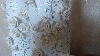 DIY Украшение свадебного шампанского часть 1. Decoration Wedding champagne part 1