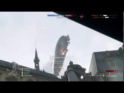 Battlefield™ 1 Tank v Behemoth Airship part 2 double kill boom