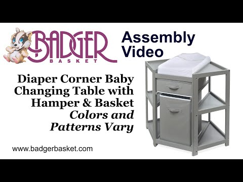 Badger Basket Diaper Corner