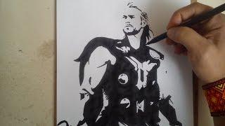 COMO DIBUJAR A THOR / how to draw thor