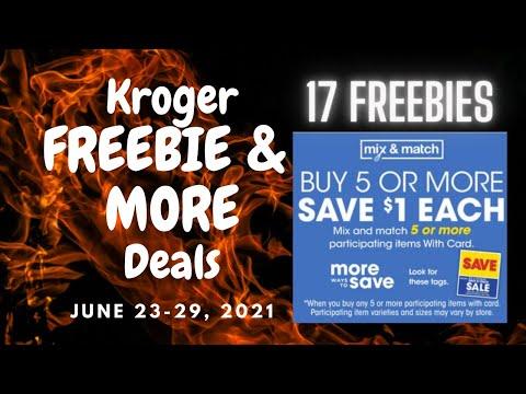 *17 FREEBIES & MONEYMAKERS* at Kroger for 6/23-6/29   Mega Sale, Ibotta, Kroger Cash Back, & MORE