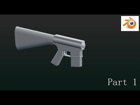 Marine Scout Sniper Rifle modeling in Blender ;  Part 1