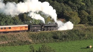63395 in trouble as it starts the climb through the Esk Valley. NYMR 2015 09 27