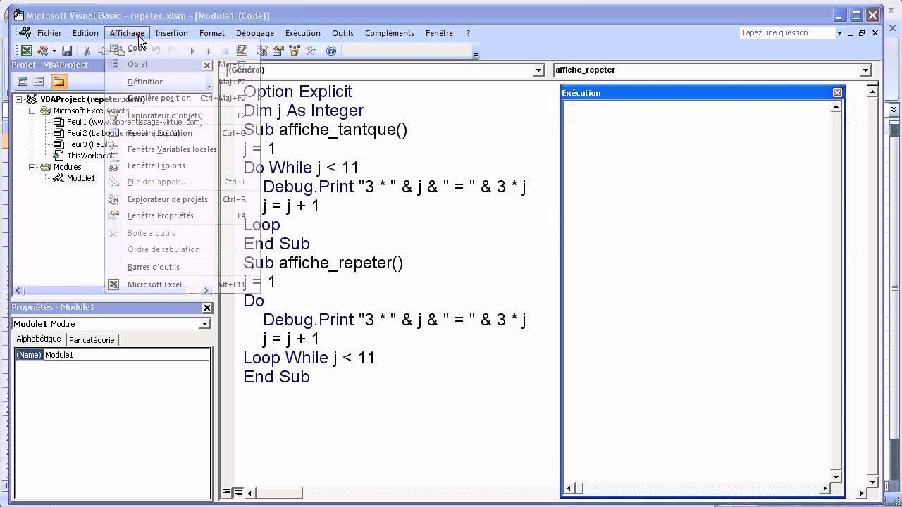 Vba Excel Boucle Repeter Jusqu A