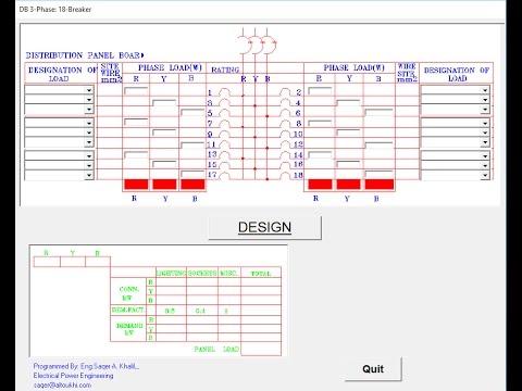 Electrical Distribution Panel Design Program