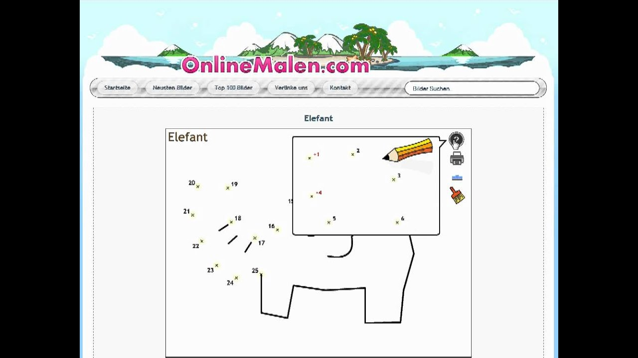 elefant online malen nach zahlen  youtube