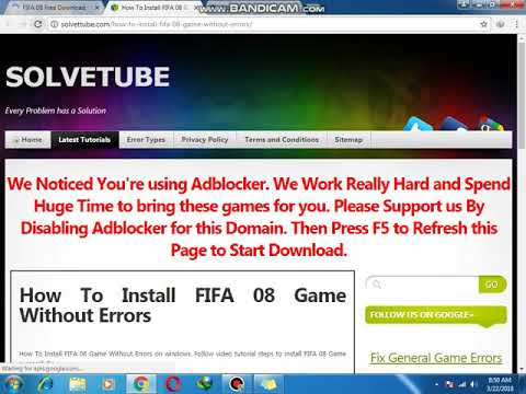 How To Download FIFA 08 For Pc 100% Working