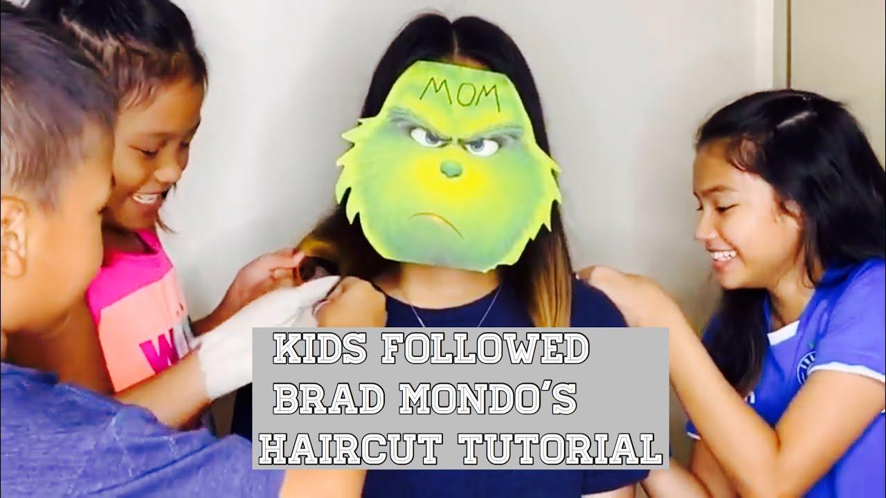 Kids followed Brad Mondo's haircut tutorial