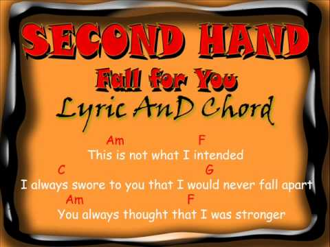 fall for yousecond hand Lyric n Chord