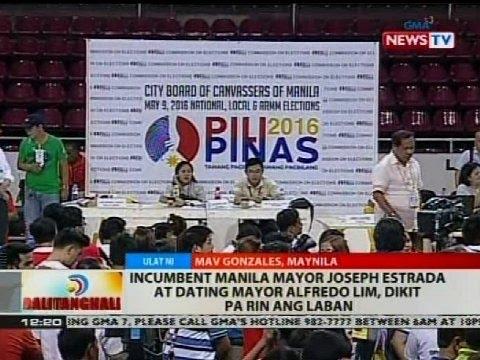 Incumbent Manila Mayor Joseph Estrada at dating Mayor Alfredo Lim, dikit pa rin ng laban
