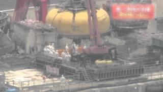 tepco fukushima reactor nr 4 heli fly by II