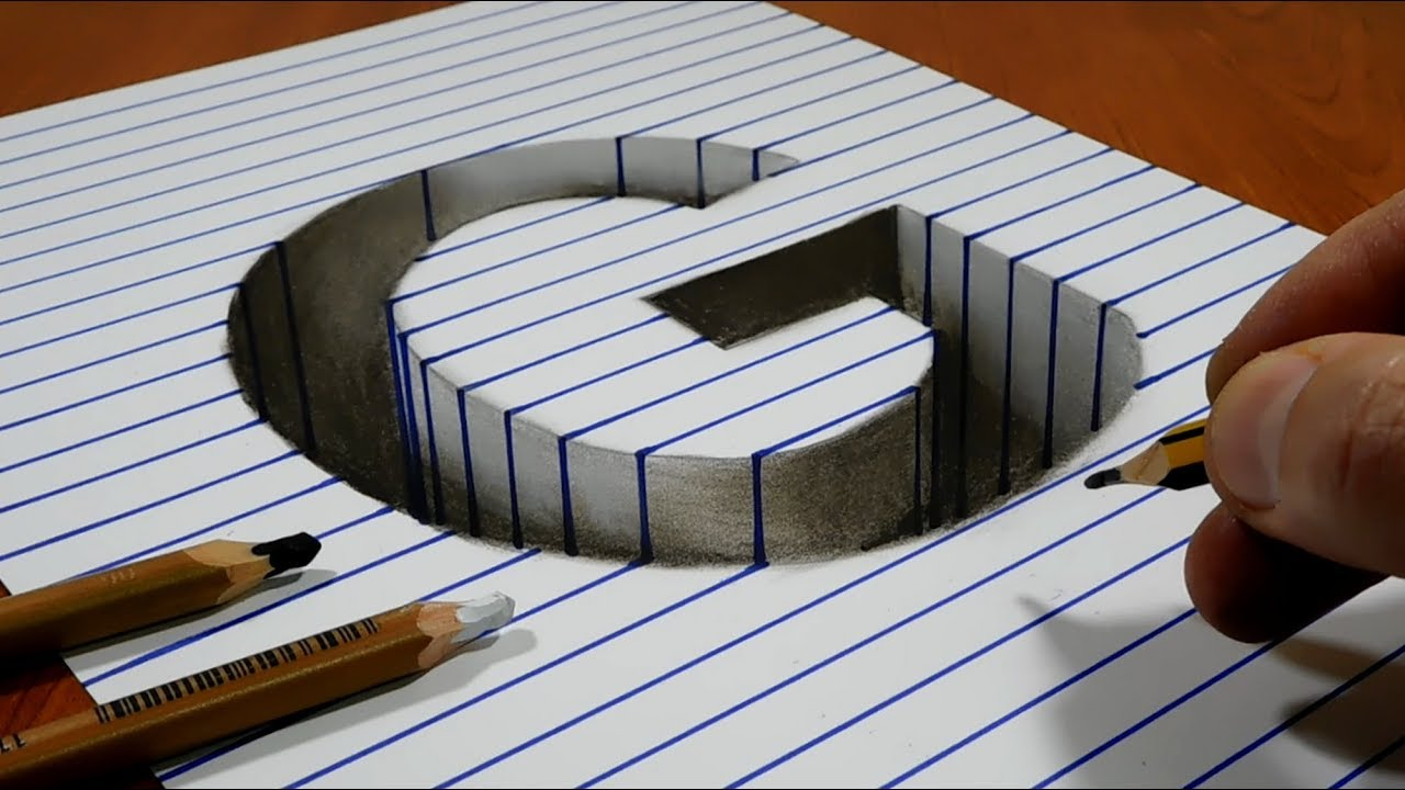 This is an image of Invaluable 3d Letter G Drawing