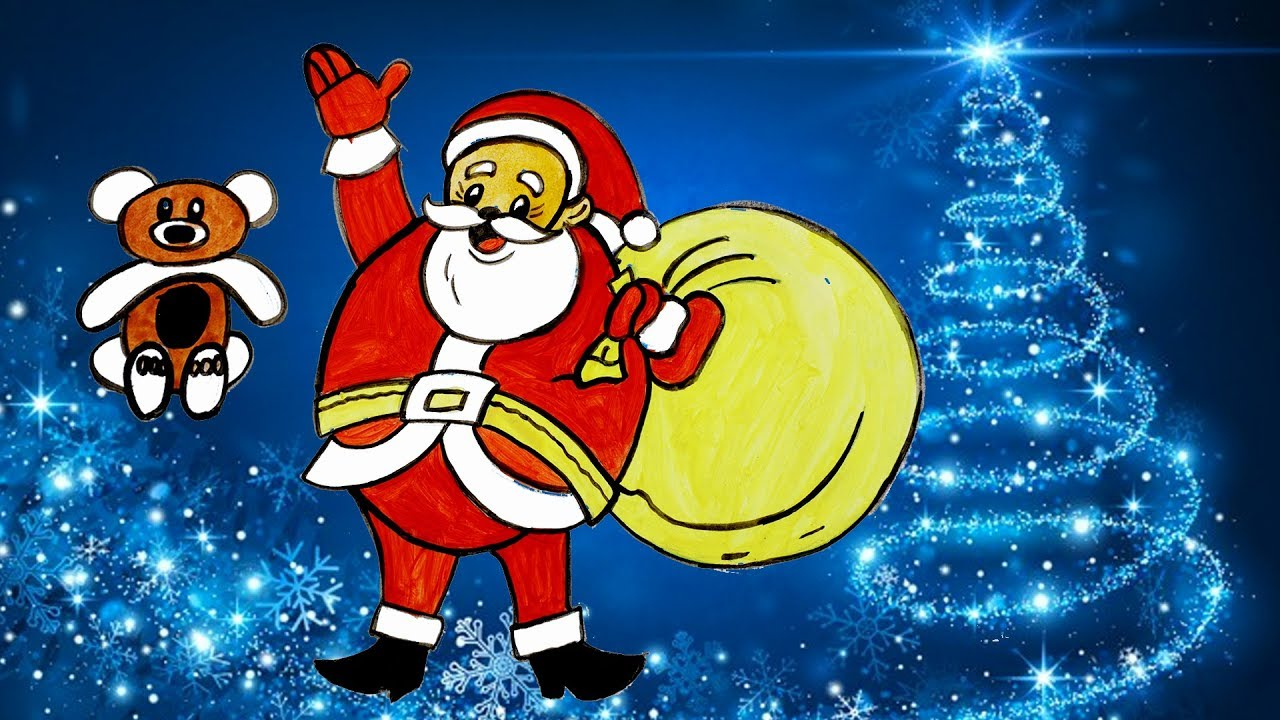 Christmas Santa | How To Color Santa Claus | Christmas Art ...