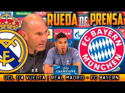 Real Madrid - FC Bayern München Rueda de prensa Champions Zidane y Casemiro