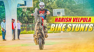 Bike Stunts On Pulsar  @ Jagtial