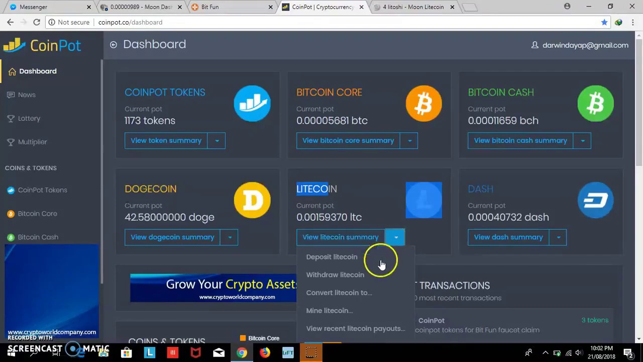 Auto Claim Coinpot co Micro-Wallet 100$ per Day