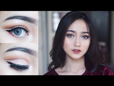 Easy Cut Crease Makeup Tutorial [ENG SUB]    Juvia's Place Nubian 1 Palette