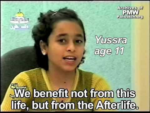 Palestinian Authority TV interview: Palestinian children aspire to death as Martyrs