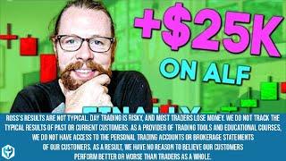 Finally Bouncing Back! +$25k on (NASDAQ: ALF) | Recap by Ross Cameron