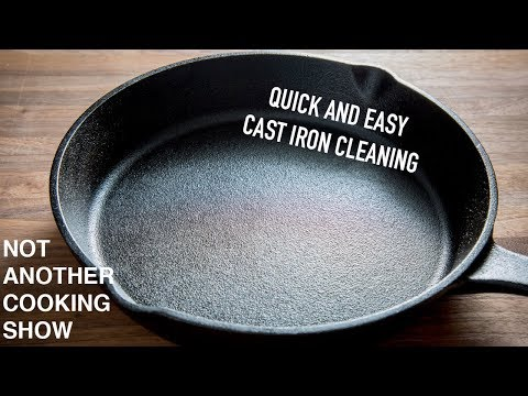 how to clean a CAST IRON PAN after cooking