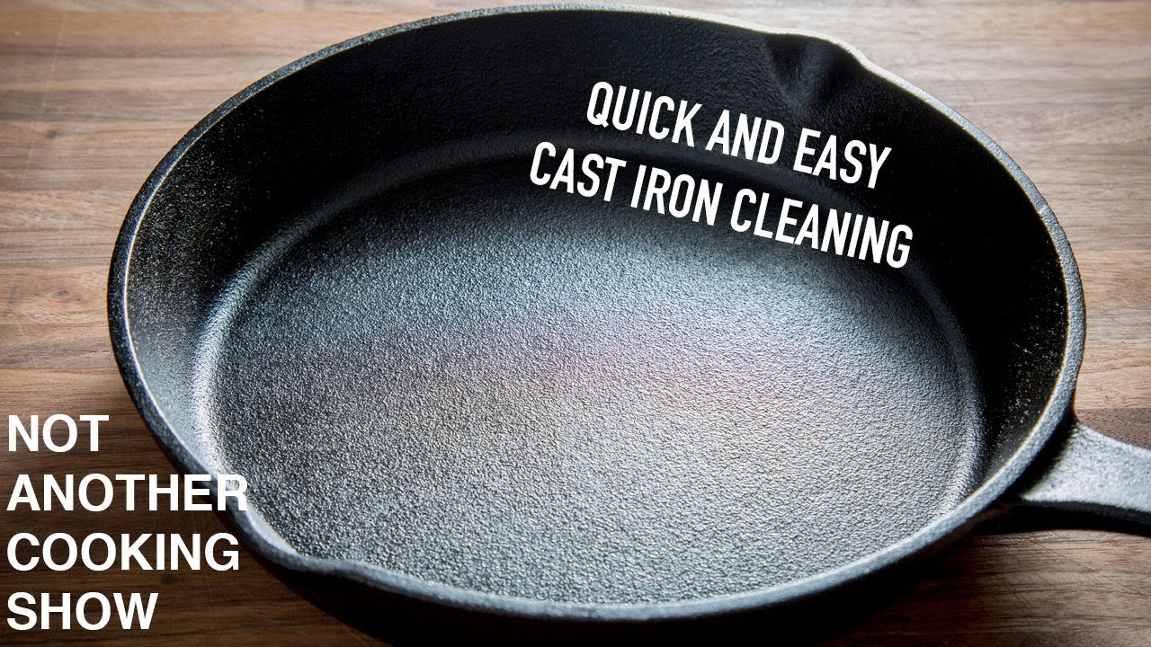 Clean A Cast Iron Pan After Cooking
