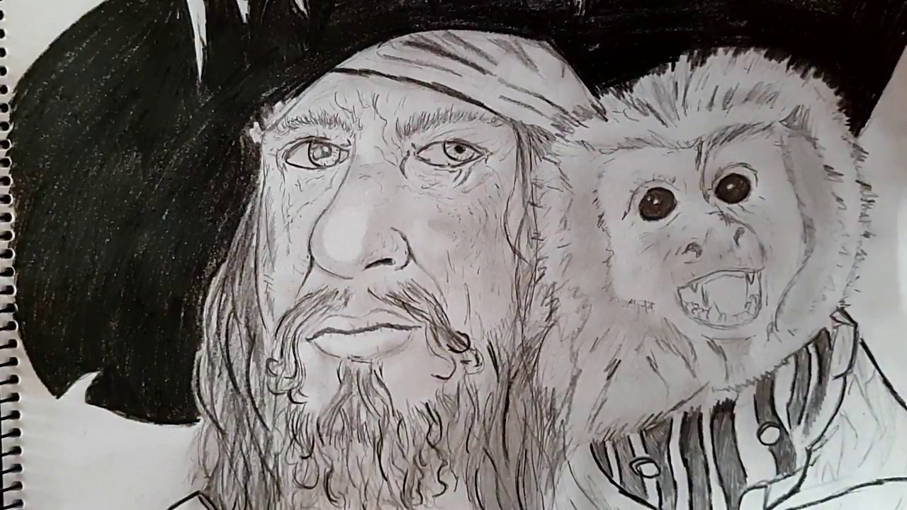 Dibujo de capitán barbosa piratas del caribe - YouTube