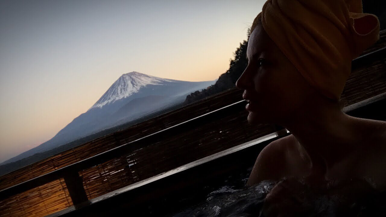 Adeyto LIVE ベニ富士山 Mt FUJI Rooftop SPA Hot Spring Onsen @ Yamadaya Hotel