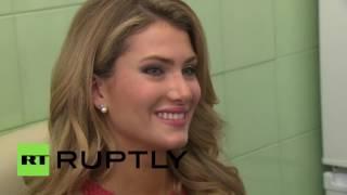بالفيديو.. ملكة جمال روسيا تجري فحصا للإيدز