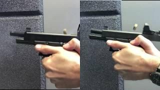 Glock Recoil - 17 gen 4 MOS vs. 34 gen 5 MOS - tungsten guide rod vs. Steel