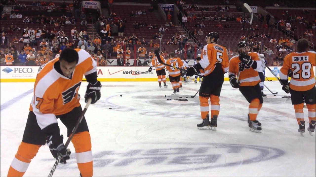 Philadelphia Flyers Warm Ups