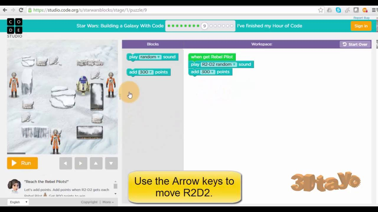 Learn the Hour of Code for Kids - Star Wars R2D2