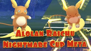 Alolan Raichu Nightmare Cup Meta Slow Down the Hype Train Pokemon Go