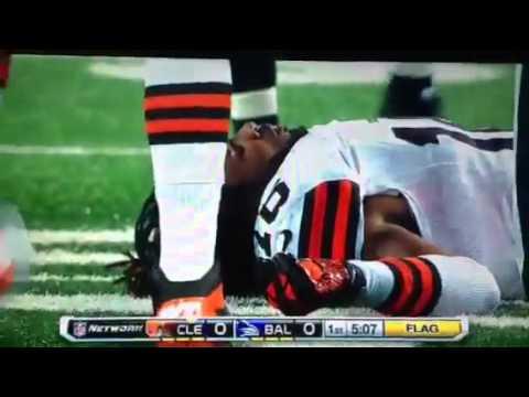 Josh Cribbs hit on Thursday Night Football