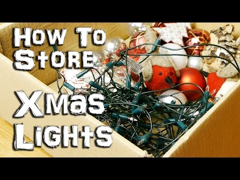 How to store your Christmas Lights – Life hack