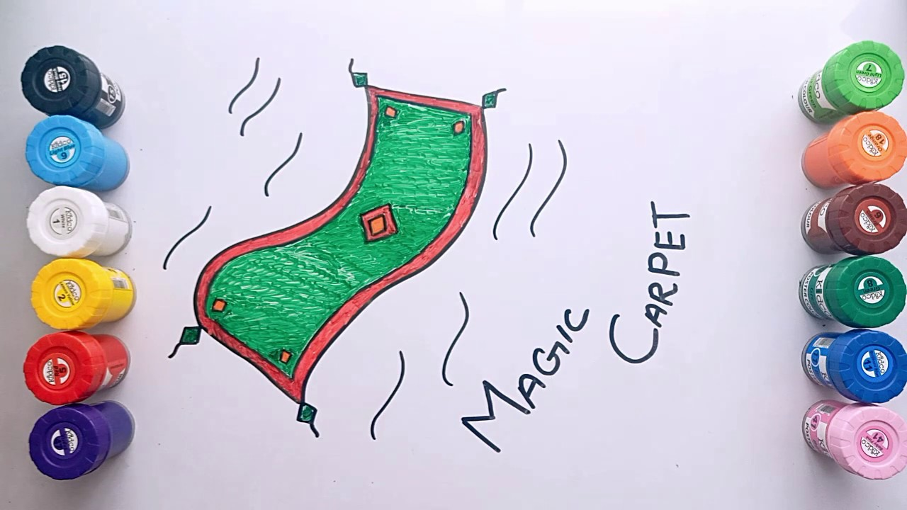 How to Draw Magic Carpet  Step by Step - YouTube